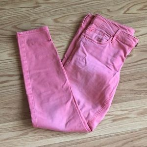 Low rise pink jeans